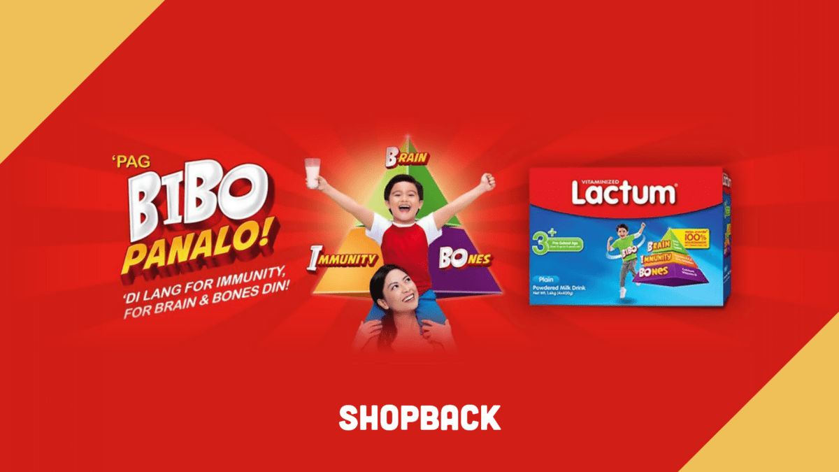 Support your child's growth with Lactum and get up to 10% Cashback!