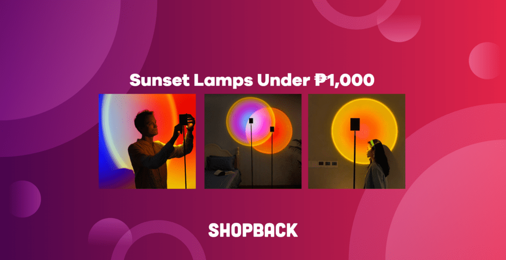 sunset lamp shopee