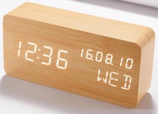 wooden alarm clock shopee lazada