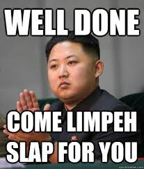 well done limpeh clap