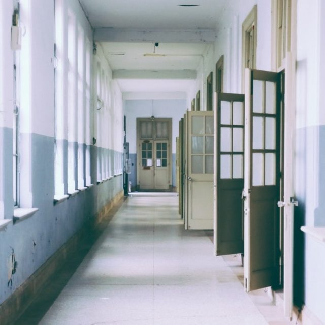 Corridor of an abandoned school