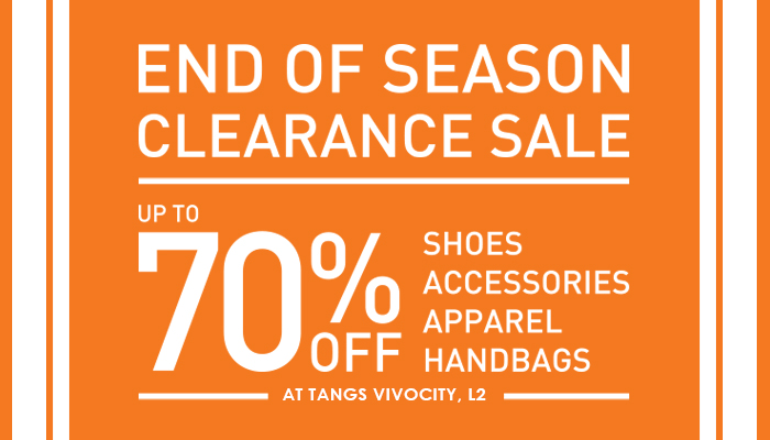 Tangs @ VivoCity 70% off end of season clearance sale