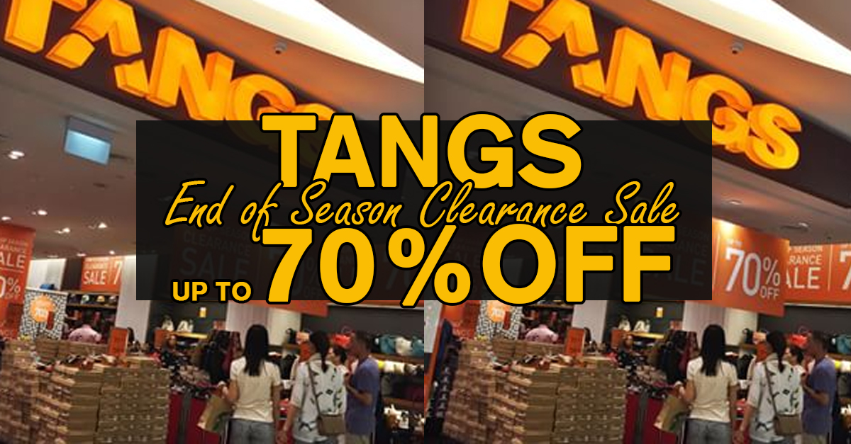 Tangs @ VivoCity: 70% Off End Of Season Clearance Sale