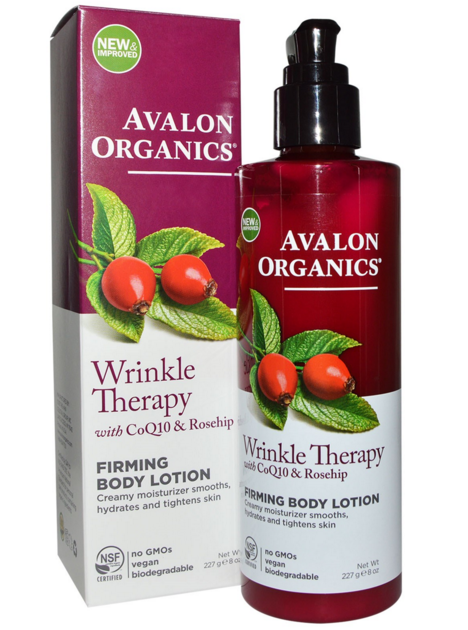 Avalon Organics, Wrinkle Therapy with CoQ10 & Rosehip, Firming Body Lotion, iHerb