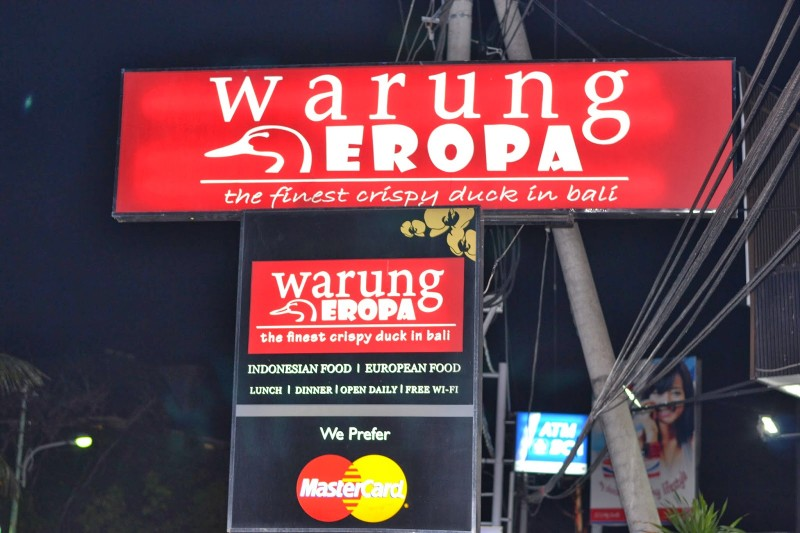 Warung eropa Bali Indonesia