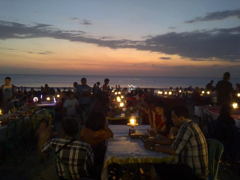 jimbaran beach Seafood Barbecue Bali Indonesia