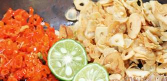 sambal matah bali Indonesia