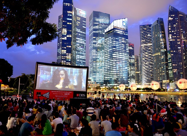DBS movies by the bay crowd