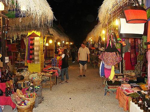 Rows of Shops at Angkor Night Market