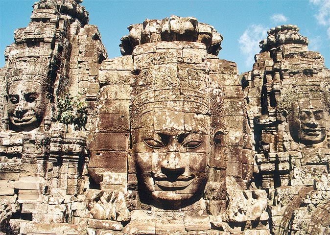 Head Statues of Bayon Temple
