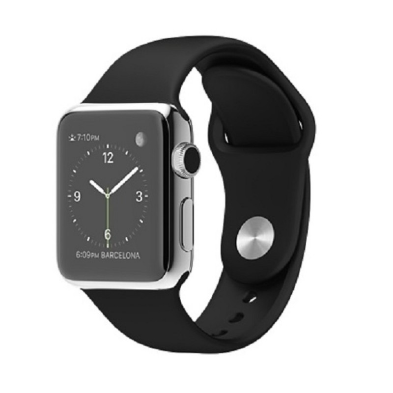Apple iWatch 38mm Stainless Steel Black Macintosh Latest watch time clock touchscreen