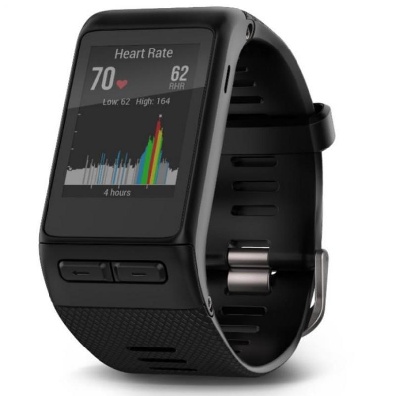 Garmin Vivoactive HR Black SmartWatch Heart Rate GPS Running Walking Swimming Golf