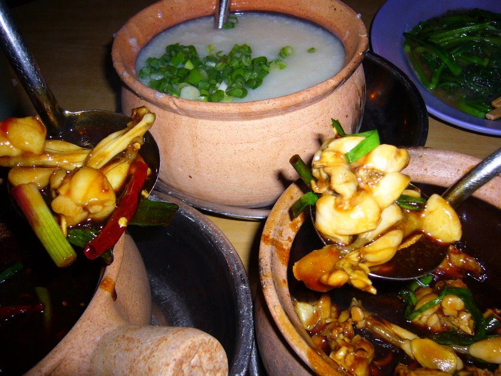 tian ji zhou frog porridge legs singapore hawker food
