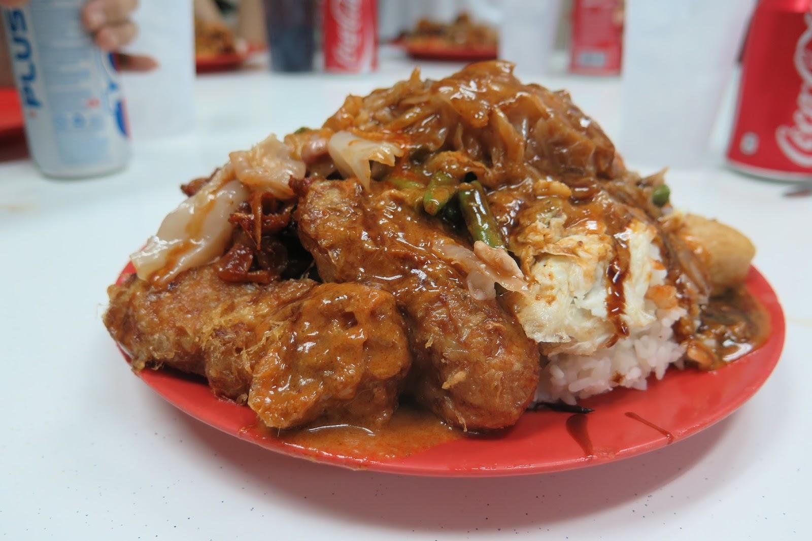 hainanese curry rice scissor cut singapore street hawker food