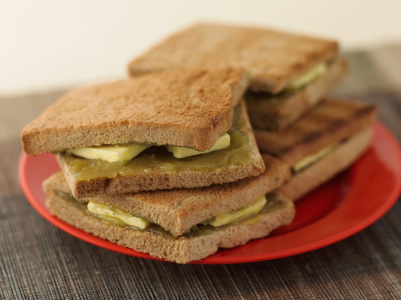 kaya toast coconut jam singapore breakfast on bread cold butte traditional hawker street food