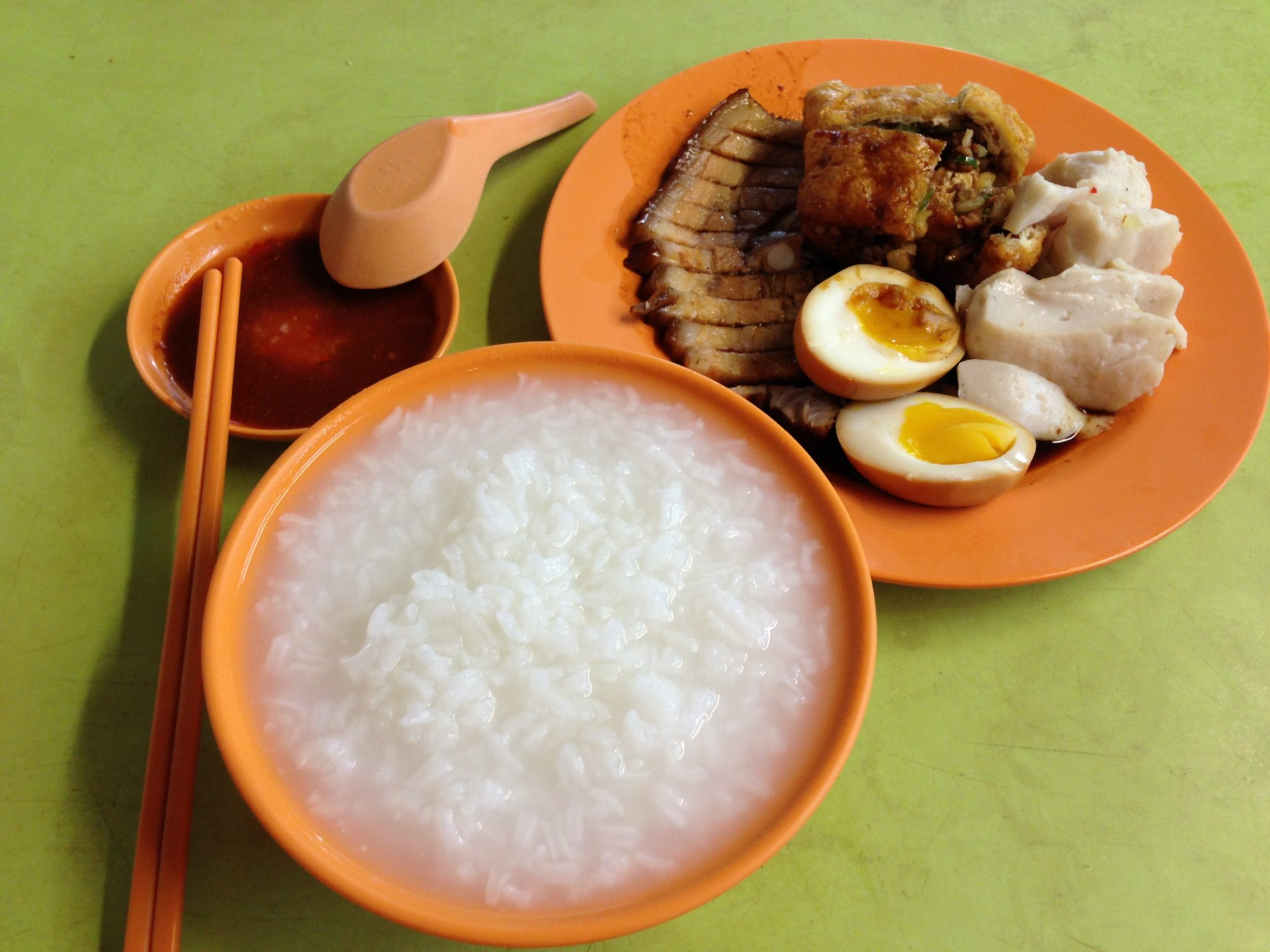 teochew porridge teochew muay rice chili braised side dish salted egg roast meat singapore malaysia traditional streeet hawker food