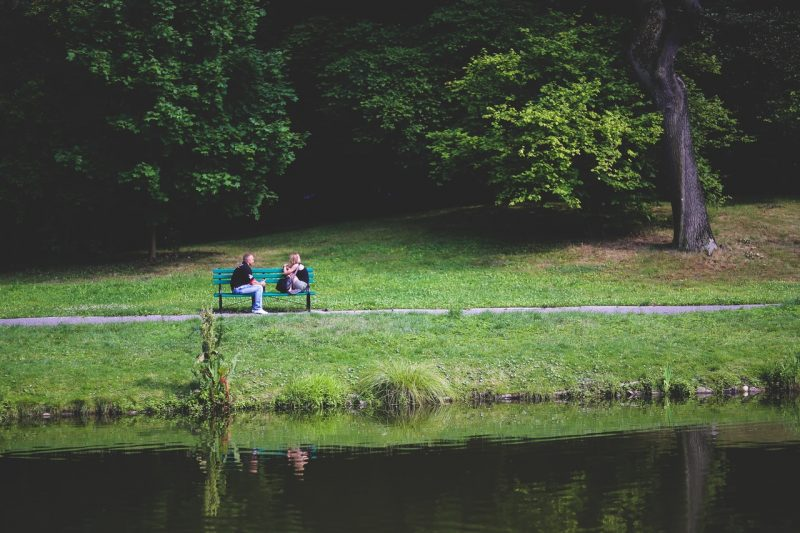 bench-couple-love-people