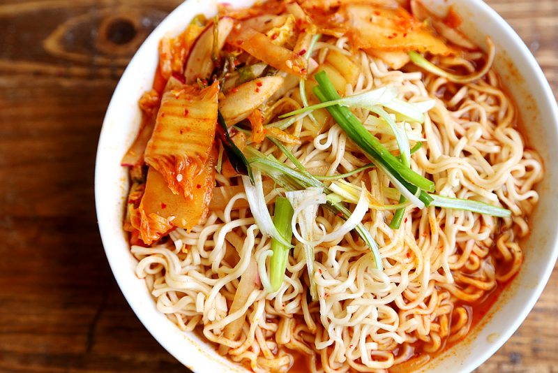 kimchi instant noodles