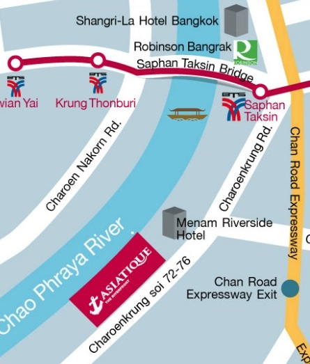 Asiatique the Riverfront map
