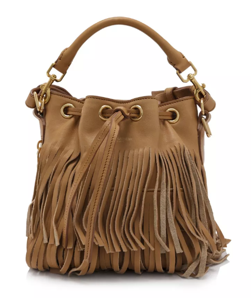 Saint Laurent Small Emmanuelle Fringed Bucket Bag Reebonz ... 0b3d0aafa6