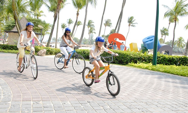 Cyclers in sentosa