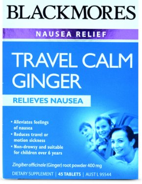 Blackmores Travel Calm Ginger Tablets