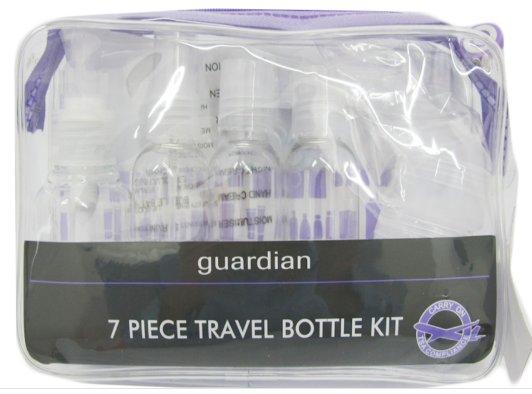 Guardian 7 Piece Travel Bottle Kit