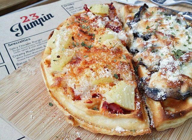 Mushroom Pizza Waffle from 23 Jumpin