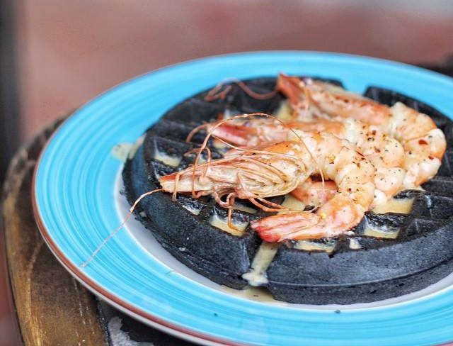 Tiger Prawn Waffle from Spathe Public House
