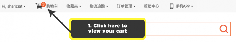 Viewing your cart