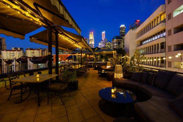 The rooftop bar & restaurant overlooking Chinatown