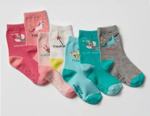 Fairy tale days of the week socks