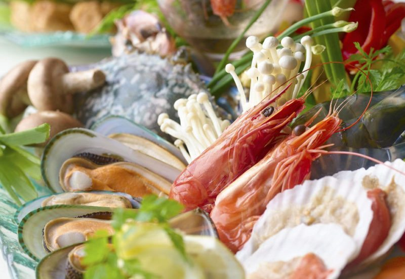 Seafood spread at The Buffet at M Hotel