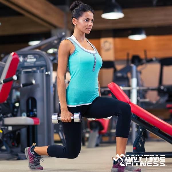 Anytime fitness wide range of fitness equipment