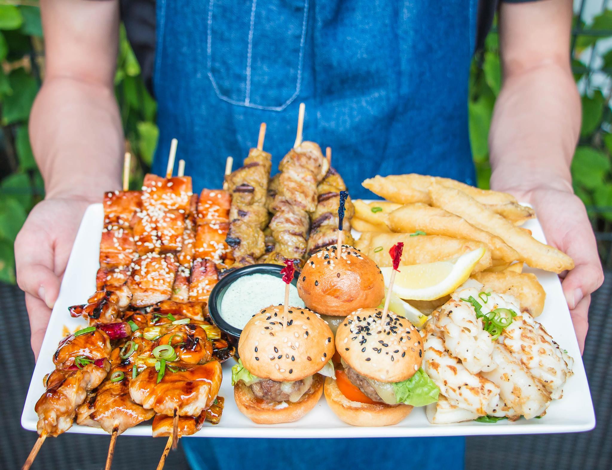 brunch fares and finger food platter