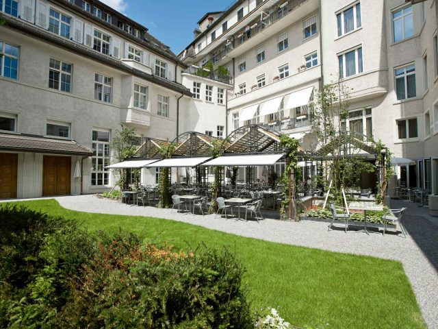 Glockenhof Zurich is an oasis of greenery and peace in midst of the hustle and bustle of lively Zurich.