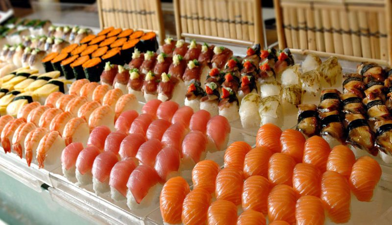 Kushin Bo sushi spread at their Japanese buffet