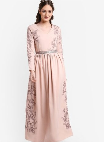 Zalia Embroidered Dress