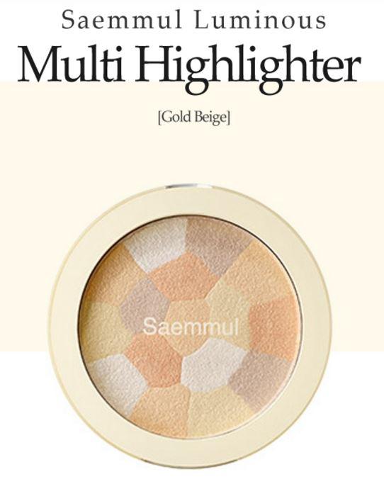 theSAEM Luminous Gold Highlighter