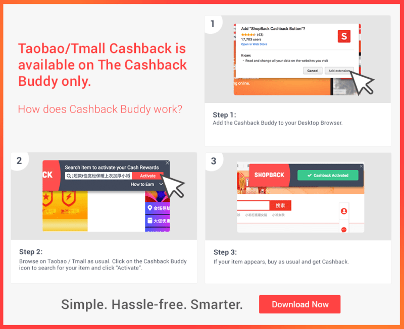 Taobao cashback ShopBack