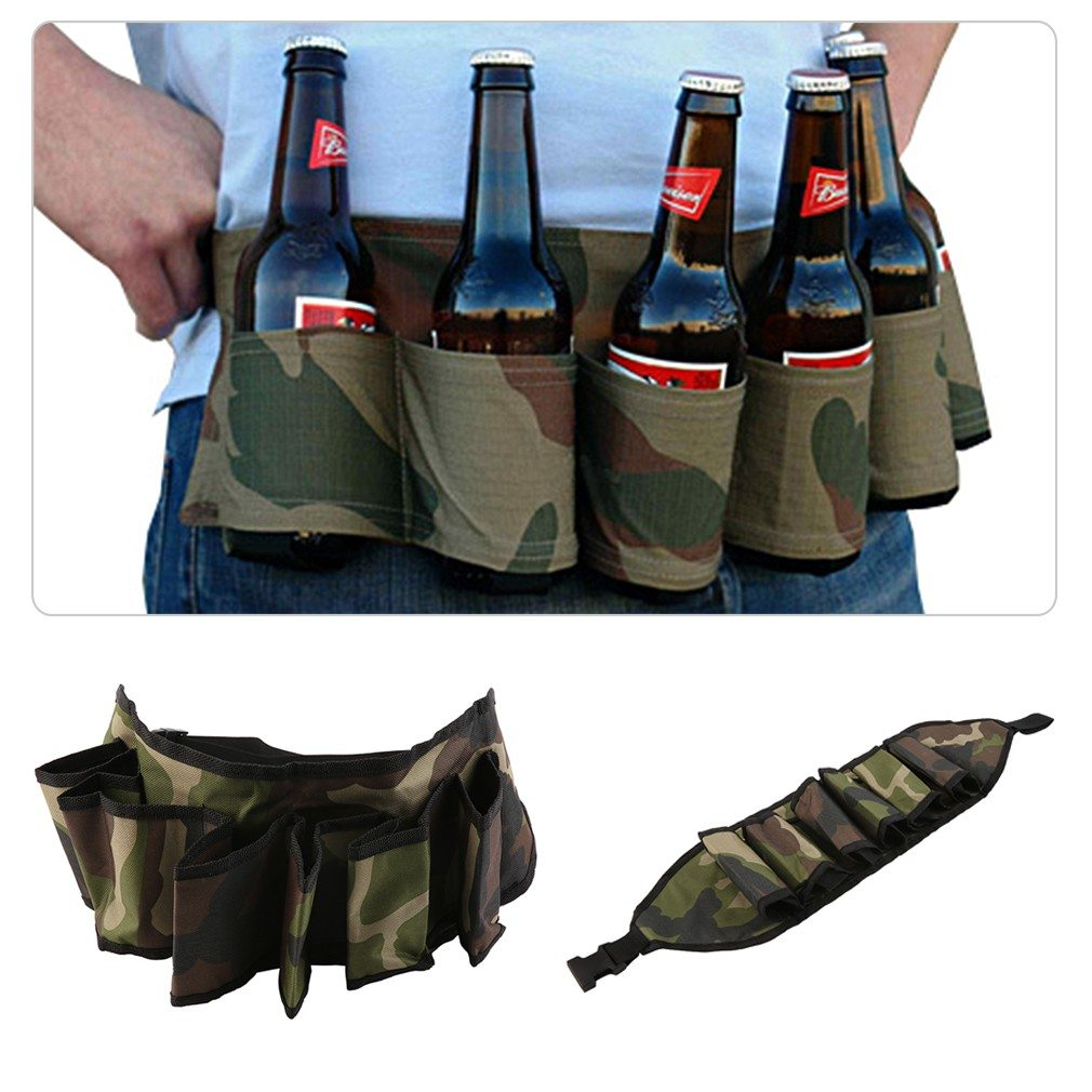 Party Beer & Soda Drink Can Belt 6 Pack Holster