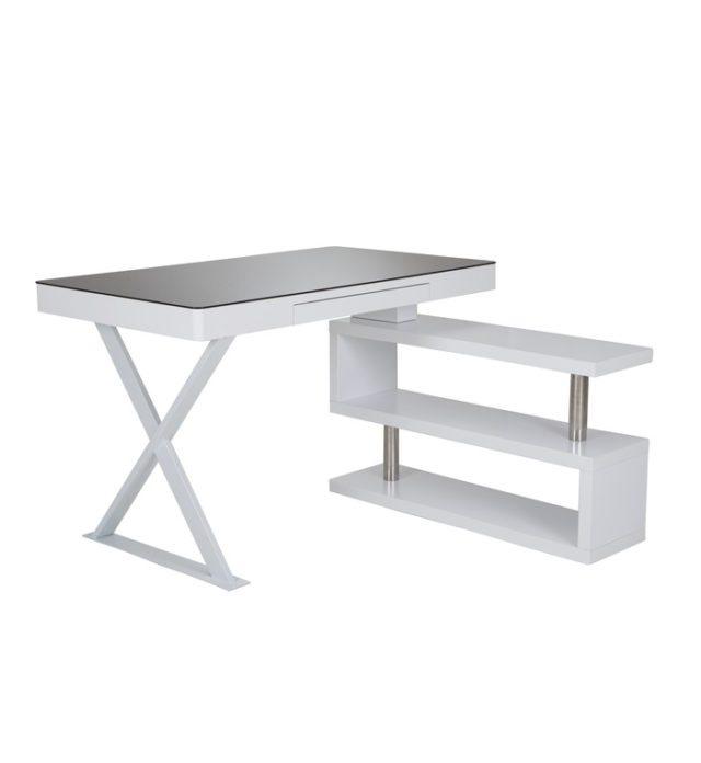 Santos Study Desk With Side Shelves