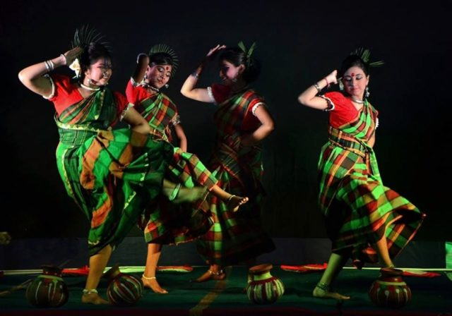 Women performing cultural dance