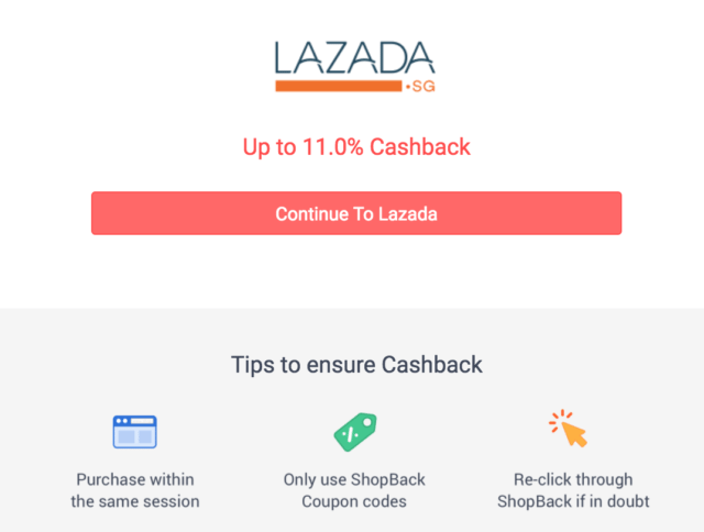 Shopback lazada clickthrough