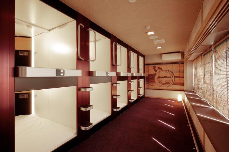 Stylish capsules in Nadeshiko Hotel Shibuya