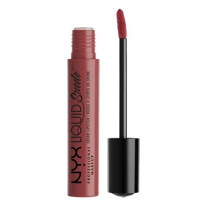 NYX Liquid Suede Cream Lipstick in Soft Spoken