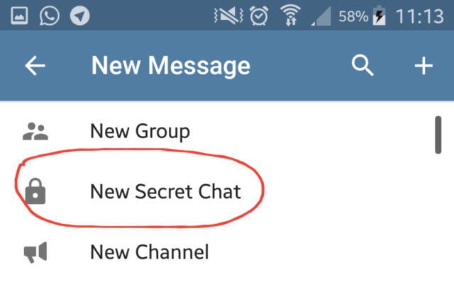 new secret chat