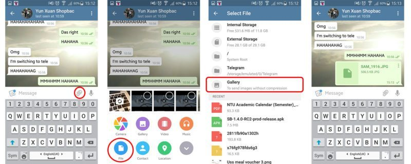 How to send pictures as file