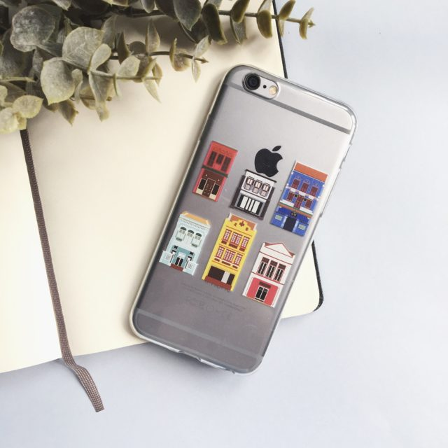 SHOPHOUSES OF SINGAPORE CLEAR IPHONE 6/7 CASE