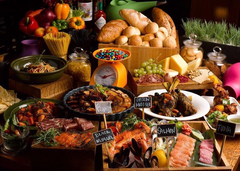 The Kitchen Table buffet spread